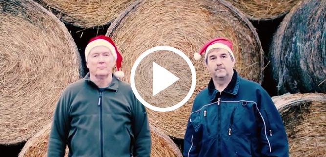 Gårdsgrisbönderna Thomas och Anders önskar God Jul